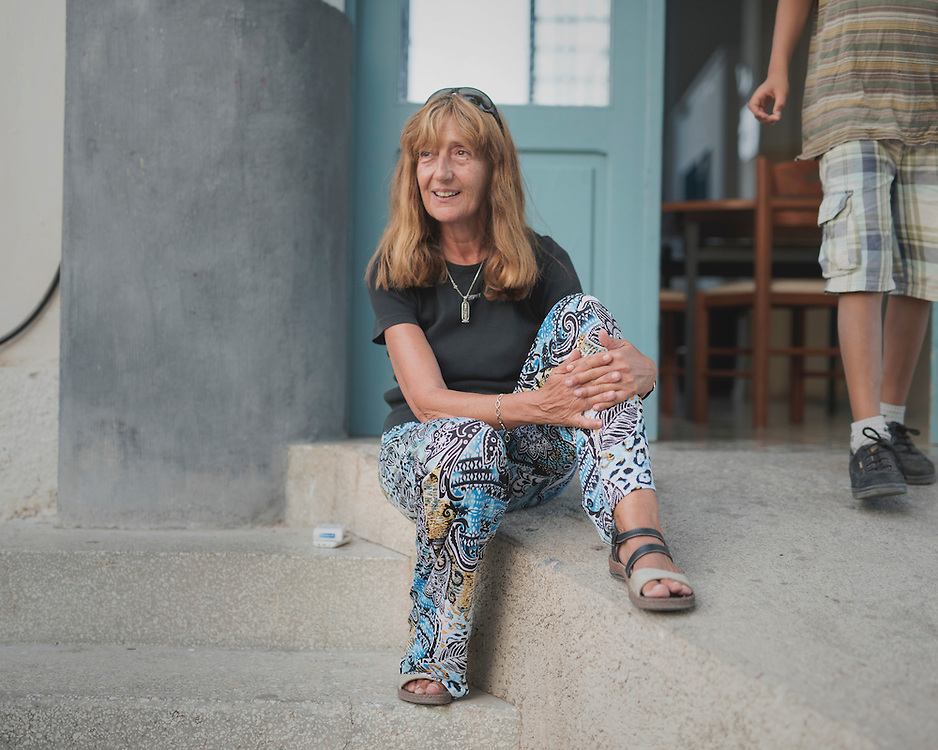 Matina Katsiveli (62), often called Mamma Matina, the founder and director of PIKPA, a refuge opened in January 2016 by the Leros Solidarity Network as a shelter for families and unaccompanied minors.