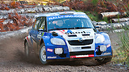 20:11:2009..Rally of Scotland..Guy Wilks on stage 1 - when the sun shone for a few minutes!!..Pic:Andy Barr.07974 923919  (mobile).andy_snap@mac.com.All pictures copyright Andrew Barr Photography. .Please contact before any syndication. .