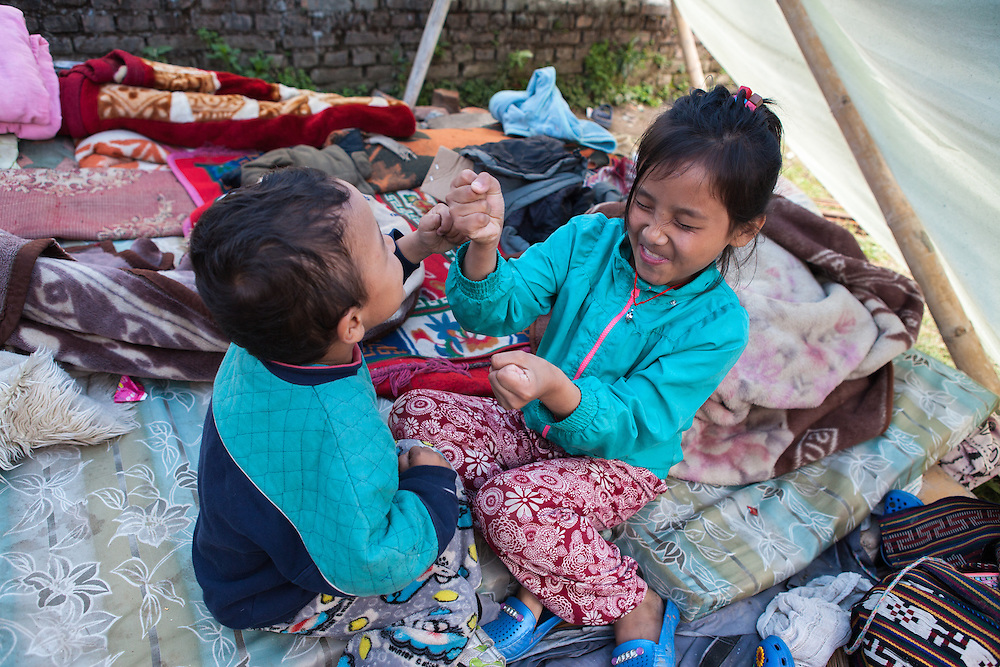 Brother and sister. Dolma Sherpa (9,f) and Angchiring Sherpa (5,m)