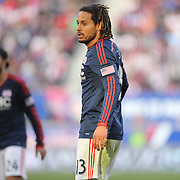 Jermaine Jones, New England Revolution, during the New York Red Bulls Vs New England Revolution, MLS Eastern Conference Final, first leg at Red Bull Arena, Harrison, New Jersey. USA. 23rd November 2014. Photo Tim Clayton