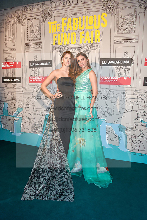 Left to right, Sabrina Percy and Amber Le Bon at the Fabulous Fund Fair in aid of Natalia Vodianova's Naked Heart Foundation in association with Luisaviaroma held at The Round House, Camden, London England. 18 February 2019.