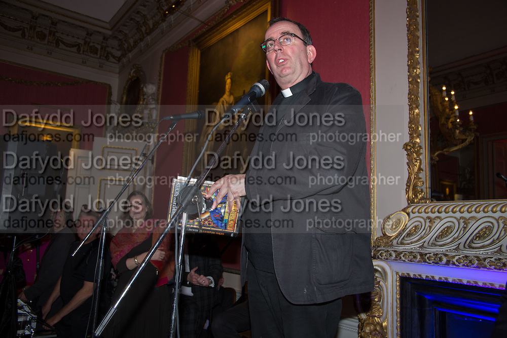 THE REVEREND RICHARD COLES, The Literary Review Bad Sex in Fiction Award 2014. The In and Out ( Naval and Military ) Club, 4 St. James's Sq. London SW1. 3 December 2014.