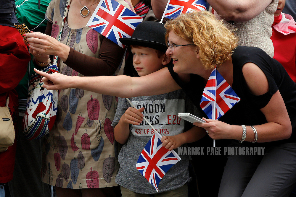 A young boy with a hearing impairment waits for the arrival of the Paralympic Torch ahead of the start of the London 2012 Paralympic Games for the arrival of Paralympic torch in Trafalgar Square on August 29, 2012, in London, England. (Photo by Warrick Page)