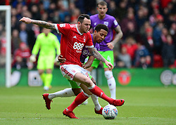 Korey Smith of Bristol City Battles for the ball with Lee Tomlin of Nottingham Forest - Mandatory by-line: Alex James/JMP - 28/04/2018 - FOOTBALL - The City Ground - Nottingham, England - Nottingham Forest v Bristol City - Sky Bet Championship
