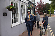 The Mayor of Bexhill on his way to the Thirteenth May Day Fair organised by local charity, Bexhill Old Town Preservation Society, Bexhill Old Town. 6 May 2019