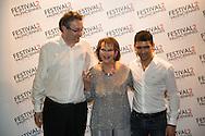 Festival Du cinema de Valenciennes - 19032014 - France -Mehdi Ben Attia,  Claudia Cardinale