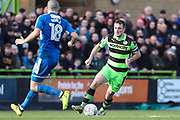 Forest Green Rovers Lee Collins(5) runs forward during the EFL Sky Bet League 2 match between Forest Green Rovers and Notts County at the New Lawn, Forest Green, United Kingdom on 10 March 2018. Picture by Shane Healey.