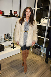 Roxie Nafousi at a party to launch Ashley Robert's new footwear range Allyn held ay Larizia, 74 St.John's Wood High Street, London England. 8 February 2017.