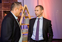Dejan Stefanovic of SPINS and Aleksander Ceferin, president of UEFA during Traditional New Year party of of the Slovenian Football Association - NZS, on December 20, 2018 in Gospodarsko razstavisce, Ljubljana, Slovenia. Photo by Vid Ponikvar / Sportida