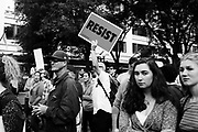 Counter-protesters at the Freedom Rally at Westlake Park. Seattle, WA. August 13, 2017.