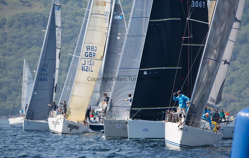 Silvers Marine Scottish Series 2017<br /> Tarbert Loch Fyne - Sailing<br /> <br /> RC35 Class start <br /> <br /> Credit Marc Turner / PFM