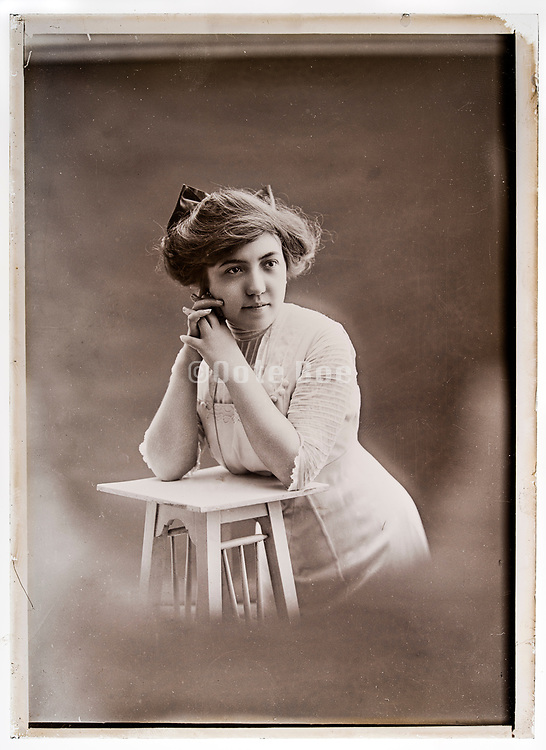 portrait of an adult woman France circa 1920s