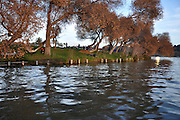 Israel, Tel Aviv, Yarkon River and park.The man made lake