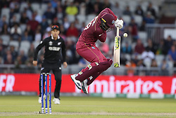 West Indies Sheldon Cottrell during the ICC Cricket World Cup group stage match at Old Trafford, Manchester.