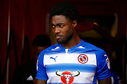 Reading Defender Tyler Blackett (24) during the EFL Sky Bet Championship match between Brentford and Reading at Griffin Park, London, England on 16 September 2017. Photo by Andy Walter.