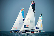 Emirates Team New Zealand, Race day one of the Land Rover Extreme Sailing Series regatta in Qingdao, China. 1/5/2014