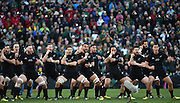 JOHANNESBURG, South Africa, 25 July 2015 : The All Blacks Haka during the Castle Lager Rugby Championship test match between SOUTH AFRICA and NEW ZEALAND at Emirates Airline Park in Johannesburg, South Africa on 25 July 2015. Bokke 20 - 27 All Blacks<br /> <br /> © Anton de Villiers / SASPA