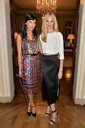 Left to right, CAROLINE VON WESTENHOLZ, and LAUREN SANTO DOMINGO at a party hosed by the US Ambassador to the UK Matthew Barzun, his wife Brooke Barzun and editor of UK Vogue Alexandra Shulman in association with J Crew to celebrate London Fashion Week held at Winfield House, Regent's Park, London on 16th September 2014.