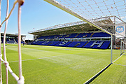 A stadium shot taken through the goal net before the Pre-Season Friendly match between Peterborough United and Bolton Wanderers at London Road, Peterborough, England on 28 July 2018. Picture by Nigel Cole.