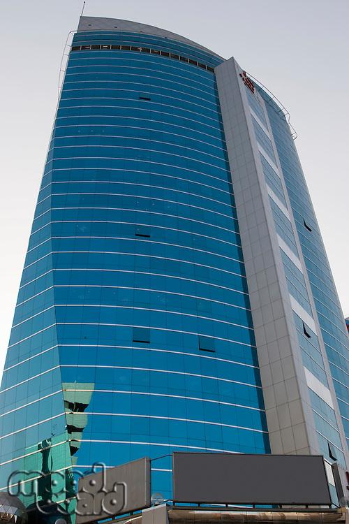 Dubai, UAE, Architectural detail of a building in Deira.