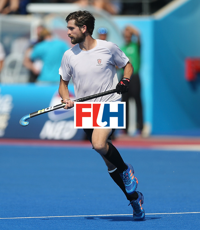 LONDON, ENGLAND - JUNE 19:  Iain Smythe of Canada during the Hero Hockey World League Semi-Final match between Netherlands and Canada at Lee Valley Hockey and Tennis Centre on June 19, 2017 in London, England.  (Photo by Alex Morton/Getty Images)