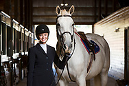 Photos of the Liberty University equestrian team are taken on September 26, 2017. (Photo by Jessie Rogers)