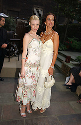 Left to right, CHARLOTTE DUTTON and SOPHIE ANDERTON at the annual Michele Watches Summer Party held in the gardens of Home House, 20 Portman Square, London W1 on 15th June 2006.<br />