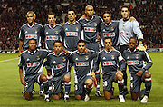 Benfica team photo, Manchester United v Benfica, Old Trafford, Manchester, England, 27-09-2005