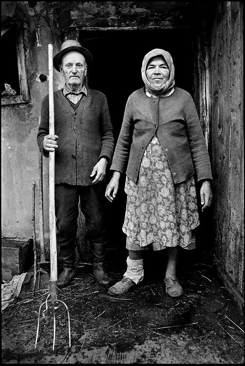 'Romanian Gothic' - Dairy Farmers, Pintic Transylvania, Romania August 1996