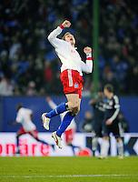 Fussball  1. Bundeslga  Saison 2008/2009   30.01.2009   Hamburger SV - Bayern Muenchen Marcell JANSEN (Hamburger SV) jubelt nach dem Tor zum 1-0 durch Mladen PETRIC.