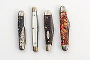 Some of Wayne Hayes' pocket knives