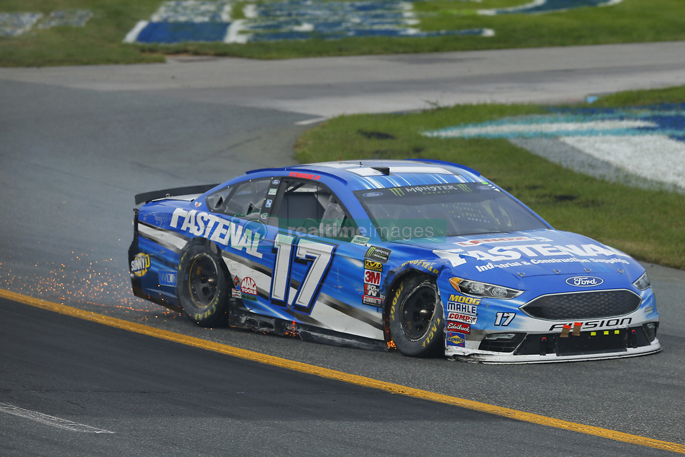 July 22, 2018 - Loudon, New Hampshire, United States of America - Ricky Stenhouse, Jr (17) brings his car through the turns during the Foxwoods Resort Casino 301 at New Hampshire Motor Speedway in Loudon, New Hampshire. (Credit Image: © Chris Owens Asp Inc/ASP via ZUMA Wire)
