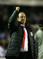 Photo: Rich Eaton.<br /> <br /> Birmingham City v Liverpool. Carling Cup. 08/11/2006. Liverpool manager Rafael Benitez applauds the travelling fans after the 1-0 victory at Birmingham City