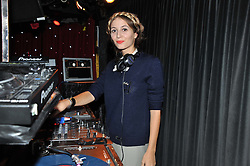 DJ/musician HARLEY VIERA NEWTON at the JW Anderson Top Shop Party held at Madame Jojo's, 8-10 Brewer Street, London W1 on 17th September 2012.