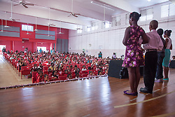 Students perform for their teachers, peers, and parents at the Juanita Gardine Elementary School Dancing Classrooms VI Culminating Event.  16 December 2015.  Christiansted, St. Croix.   © Aisha-Zakiya Boyd.
