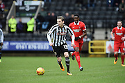 Notts County defender Elliott Hewitt during the Sky Bet League 2 match between Notts County and Leyton Orient at Meadow Lane, Nottingham, England on 20 February 2016. Photo by Jon Hobley.