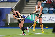 Emily Naylor of New Zealand in action during the bronze medal match between New Zealand and South Africa. Glasgow 2014 Commonwealth Games. Hockey, Bronze Medal Match, Black Sticks Women v South Africa, Glasgow Green Hockey Centre, Glasgow, Scotland. Saturday 2 August 2014. Photo: Anthony Au-Yeung / photosport.co.nz