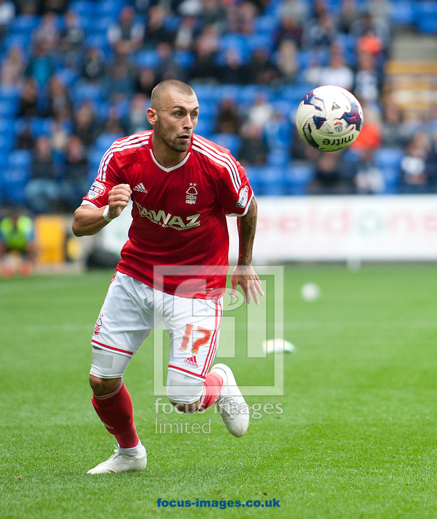 Jack Hunt of Nottingham Forest during the Sky Bet Championship match at the Macron Stadium, Bolton<br /> Picture by Russell Hart/Focus Images Ltd 07791 688 420<br /> 16/08/2014