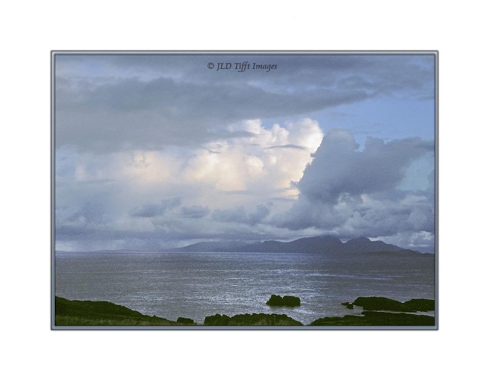 Sea and clouds seen from the north coast of the Isle of Mull, Scotland