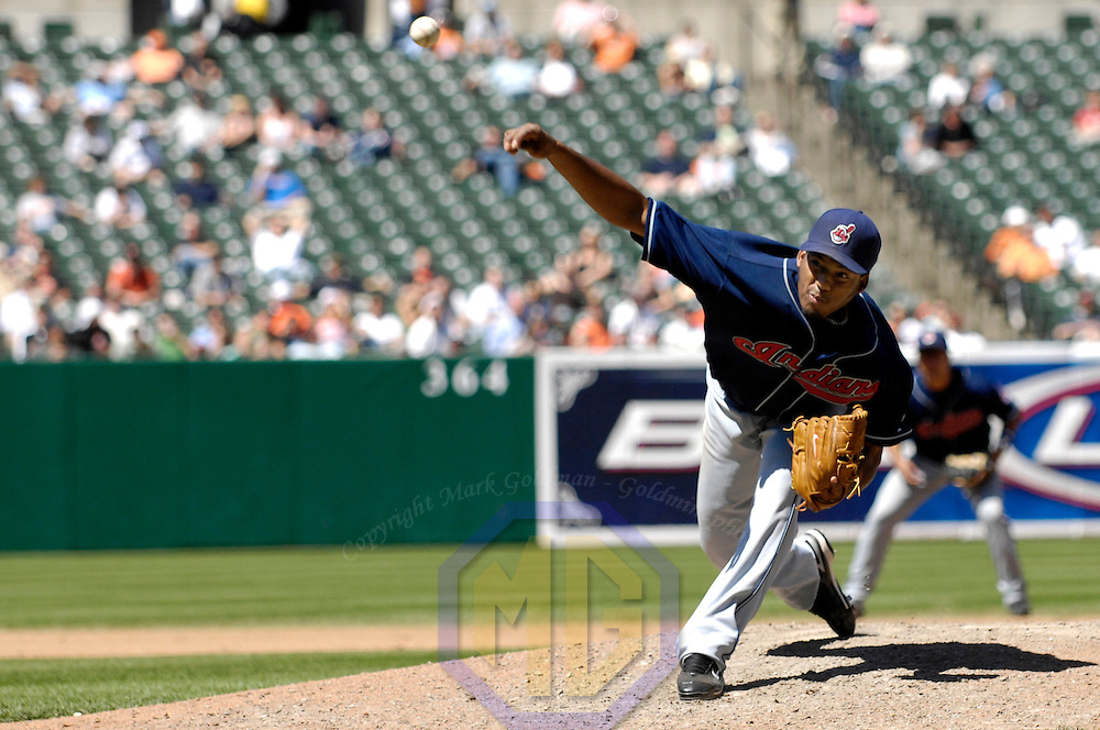 07 May 2007:  Cleveland Indians pitcher Fausto Carmona pitches in the 5th inning against the Baltimore Orioles.  Carmona went seven innings and did not give up an earned run as the Indians defeated the Orioles 10-1   ****For Editorial Use Only****
