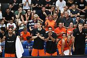 Esultanza panchina Olanda, Nazionale italiana maschile senior - Trentino basket cup 2017 ITALIA - OLANDA ITALY HOLLAND, FIP 2017, Trento 30/07/2017 foto Ciamillo-Castoria/Bertani