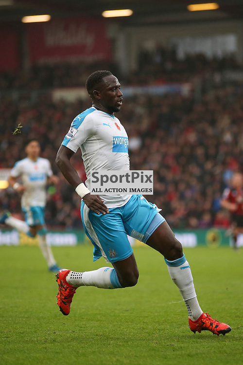 Moussa Sissoko During AFC Bournemouth vs Newcastle United on Saturday the 7th November 2015.