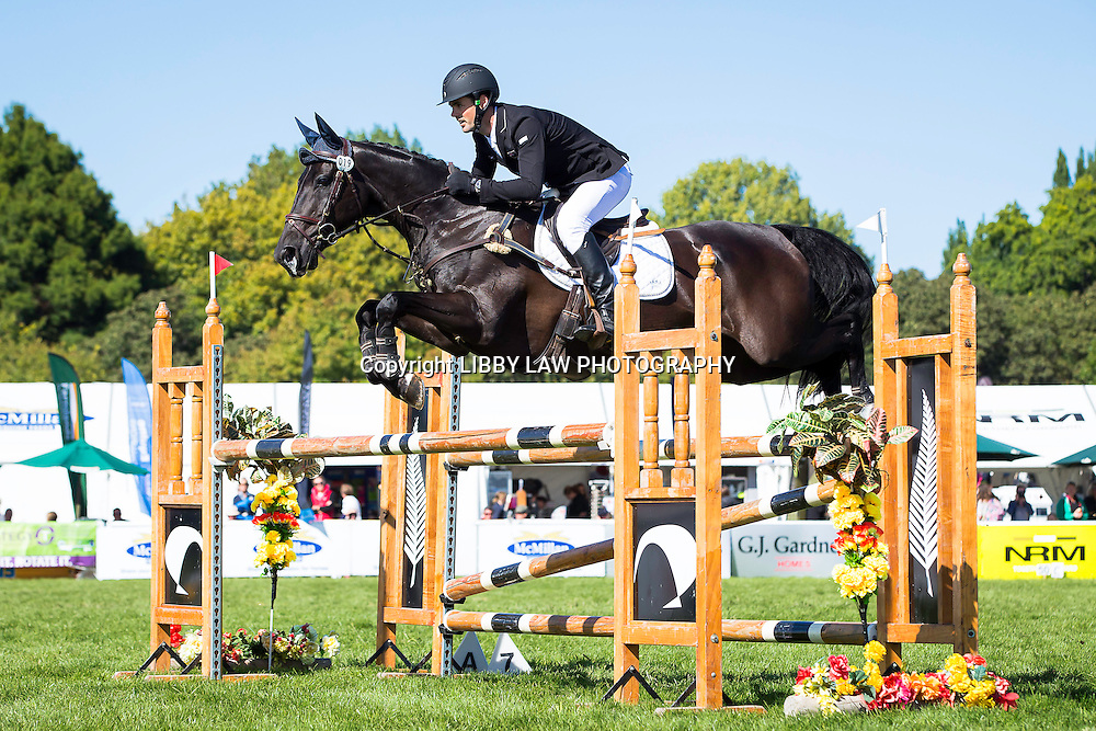 NZL-Johnathan Paget (HENTON AFTER DARK) CIC3* SHOWJUMPING: 2015 NZL-Farmlands Horse Of The Year Show, Hastings (Friday 20 March) CREDIT: Libby Law CREDIT: LIBBY LAW PHOTOGRAPHY