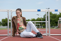 18.05.2016, Landessportzentrum Rif, Salzburg, AUT, Stephanie Bendrat im Portrait, im Bild die Österreichische Leichtathletin in Hürdenlauf Stephanie Bendrat während eines Fotoshootings // Austrian hurdling athlete Stephanie Bendrat during a photo shoot Landessportzentrum Rif in Salzburg, Austria on 2016/05/18. EXPA Pictures © 2016, PhotoCredit: EXPA/ Ernst Wukits