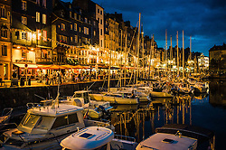 Evening at the harbour in Honfleur, Normandy, France