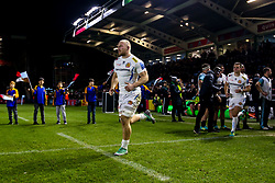 Matt Kvesic of Exeter Chiefs leads out his side at Harlequins - Mandatory by-line: Robbie Stephenson/JMP - 30/11/2018 - RUGBY - Twickenham Stoop - London, England - Harlequins v Exeter Chiefs - Gallagher Premiership Rugby