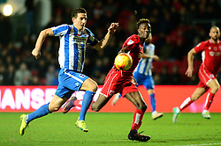 Tammy Abraham of Bristol City and Lewis Dunk of Brighton & Hove Albion give chase to the ball - Mandatory by-line: Dougie Allward/JMP - 05/11/2016 - FOOTBALL - Ashton Gate - Bristol, England - Bristol City v Brighton and Hove Albion - Sky Bet Championship