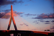 Zakim Bunker Hill Bridge; Boston; Dusk