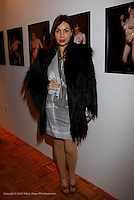 "Fabiola Beracasa attends the opening of ""Lady"" by Douglas Friedman at the Ruffian Gallery on April 23, 2009 in New York City."