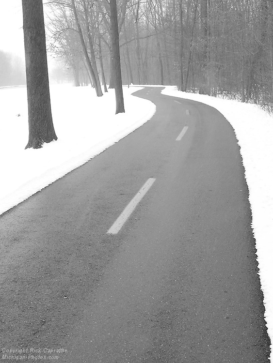 Winter Winding Road, Lower Huron Metro Park